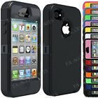 Heavy Duty Rugged Shock Proof Builders Workman Case Cover for Apple iPhone 4S, 4
