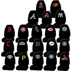 New Official MLB All Teams Black Front 1 Seat Cover & 1 Vinyl Decal Universal