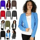 Womens Ladies Chunky Knit Long Sleeve Open Front Shrug Boyfriend Cardigan Top