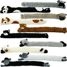 Novelty Dog / Cat Design Soft Micro Fleece Draught Draft Excluder Window Cushion
