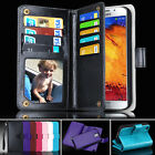 Samsung Galaxy Note3 N900 Case Magnet Leather Wallet Card Flip Note III Cover