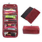 Women's Roll-up Cosmetic Makeup Case Organizer Pouch Toiletry Zip Wash Bag