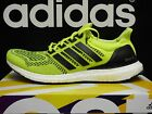 NEW ADIDAS Ultra Boost Men's Running Shoes - Solar Yellow/Black;  S77414