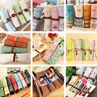 Flower Canvas Roll Up Pencil Pen Pouch Bag Holder Makeup Brush Cosmetic Case