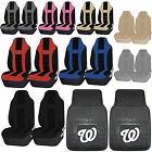 MLB Washington Nationals Rubber Front Rear Floor Mat Seat Cover Universal Set on Ebay