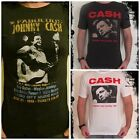 **Johnny Cash T-Shirt** Unisex Retro Rock Vest Tank Top Sizes S M L XL