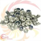 M3 M4 M5 M6 M8 M10 M12 M16 Hex Full Nuts - 'T Type' Nylocs - Wing - A2 Stainless