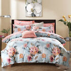 3Pc Floral Single/Double/Queen Bed Quilt/Doona Cover Set New Cotton Duvet Covers