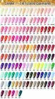 CANNI Solid Pure UV Soak Off Gel Paint Set Nail Art French Tip Colour 551 - 600