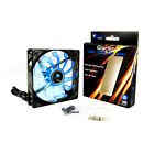 POWERCOOL GLACIER SERIES SILENT BLUE LED 120MM COOLING FAN - 3 PIN CONNECTION