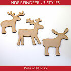 Wooden MDF Reindeer Christmas Craft Shape,Blanks,Tags, Xmas Decoration