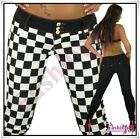 Sexy Women's Checkered Treggings Ladies Skinny Trousers Size 6,8,10,12,14 UK