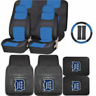 Synthetic Leather Seat Covers Set MLB Detroit Tigers Rubber Mat Universal on Ebay