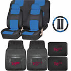 Synthetic Leather Seat Covers Set MLB Minnesota Twins Rubber Mat Universal on Ebay