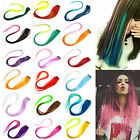 "22"" Clip On Gradual Change Colorful Straight Hair Extension Fashion Hair Pieces"
