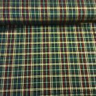 "100% Cotton Poplin Fabric - Green Christmas Tartan Fabric - 54"" width"