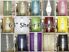 sheer yellow curtains - 2-Piece Sheer Voile Window Treatment Curtain Short Panel 63