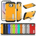 Durable Dual Layer Hard Back Cover Case W/ Kickstand Shell For Samsung Galaxy S6