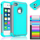 Hybrid Shockproof Rugged Rubber Hard Cover Case Skin for Apple iPhone SE 5 5S