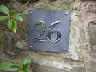 Large SLATE & CHROME House Number Signs