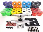 Turbo 5.0 Polish Skateboard Trucks 60mm color wheels Bearings Hardware Combo