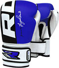 RDX Boxing Gloves Cow Hide Leather Sparring Training Punching Shock Absorption