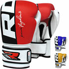 RDX Cow Hide Leather Boxing Gloves Training Kickboxing Sparring MMA Punching