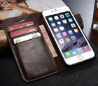 Genuine Leather Wallet Card Holder Flip Stand Case for iPhone 7/6s Plus Samsung