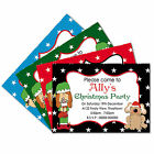 Personalised Fridge Magnet Childrens Kids Xmas Party Invites With FREE Envelopes