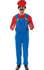 Mens Super Mario Plus Size Novelty 80s Stag Night Fancy Dress Costume