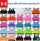 NEW Under Armour Women's Mid Sports Bra Top Yoga Gym Fitness Solid XS S M L XL