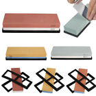 Kitchen Knife Grit Sharpener Sharpening Water Stone Dual Whetstone with 2 Stands