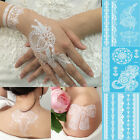 1pcs Latest Design Henna Ink Lace Temporary Flash Tattoo Inspired Sticker White