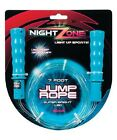 NEW NightZone Jump Rope - 7 Foot Long with Light Band Technology for Bright Glow