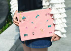 HIMORI  Jam Tassel Pouch-Fabric Clutch Handbag Accessory Pouch Tablet PCs Sleeve