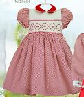 Pretty Originals Smocked Dress & Headband style BD1588 Age 2-5 years  red/cream