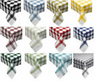 "Pack of 4 Traditional Seersucker Checked Napkins 18 x 18"" 100% Cotton Serviettes"