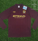 Manchester City Away Shirt - Official Umbro Football Shirt - Large