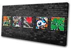 Graffiti Abstract Funky Brick Wall  CANVAS WALL ART Picture Print VA