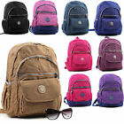 Women's Multi Colour Pockets Nylon Backpack Shoulder Bag