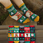 Women Winter Thick Santa Claus Deer Snowflake Snowman Christmas Cartoon Socks