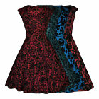 Vintage 50's Flocked Embossed Flared Swing Rockabilly Cocktail Dress New 8 - 24