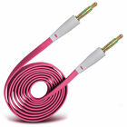Flat Noodle Jack To Jack Cable Auxiliary Audio Cable For Samsung Gaalxy A3