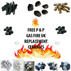 Replacement Gas fire display pebbles coals 3 Sizes Cast Coals Cast 279s