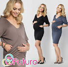 Ladies Maternity Tunic With Pockets V Neck Party Mini Dress Plus Sizes 8-18 FM13