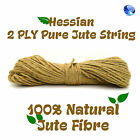 50 Meters 2 Ply Strong Jute Thick Twine Natural Hessian String Cord