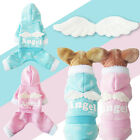 Winter Warm Small Pet Dog Cat Clothes Apparel Hoodie Angel Wings Velvet Jumpsuit