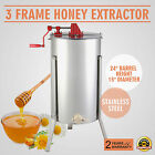 3 THREE FRAME HONEY EXTRACTOR STAINLESS STEEL EQUIPMENT MENTAL DRAINING GREAT