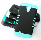 for Samsung Galaxy S4 - ARMOR Hard & Soft Rubber Hybrid High Impact Case Cover