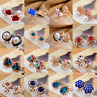 Elegant Fashion Women Lady Girls Crystal Rhinestone Flower Ear Stud Earrings
